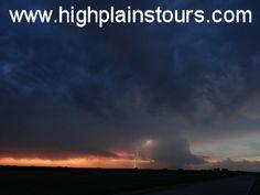 Lightning from a supercell at sunset in central Nebraska on 5/25/13.