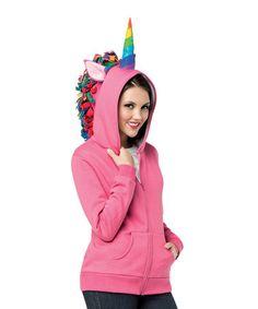 Hot Pink Unicorn Zip-Up Hoodie - Women & Plus #zulily #zulilyfinds