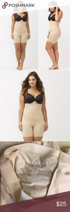 shape CACIQUE illusion high waist thigh shaper 18 New, unworn condition; no tags or packaging. Get a firm level of control that's comfortable enough for everyday wear with the high-waist thigh shaper. Sheer panels target the tummy and torso, with contoured compression to slim the thighs without flattening the rear. Smooth and seamless to disappear under clothes so only you know it's there. Elastic waist with silicone for a secure, non-slip fit. ITEM #230747  Cacique, exclusively by Lane…