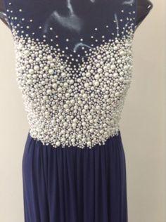 vestido pérolas  - vestidos de festa jovani