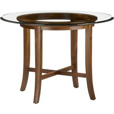 "I think this is the winner. Halo Cognac Dining Table with 42"" Glass Top in Dining Tables 