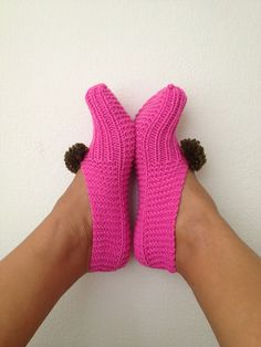 Pink  Healthy Booties Home slippers Dance classic by NesrinArt, $19.00