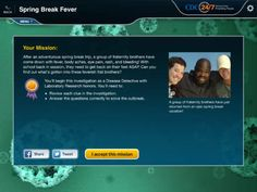 Solve the Outbreak: Middle/High School students can get clues and look at data to solve medical outbreaks. Love Is Free, High School Students, Fraternity, Problem Solving, Spring Break, Free Apps, Middle, Medical, Learning