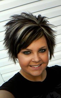 Blonde and Dark brown short cut