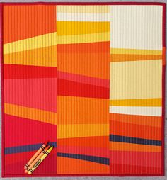 Ready to join in making another giving project? For this quilt, we're taking our inspiration fromCrayola Sunsetby Anne of Play Crafts– a little bit of controlled improv using contras…