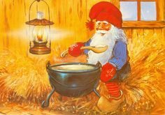 Johnnie Jacobsen Gnomes, Fairy Tales, Christmas Cards, Painting, Art, Christmas Greetings Cards, Xmas Cards, Painting Art, Paintings