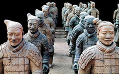 Closeup Of Terracotta Army Warriors