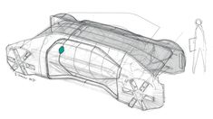 The Level 4 autonomous Renault EZ-GO concept revealed in Geneva envisions the self-driving urban shuttle of the future. Design Autos, Elephant Sketch, Industrial Design Sketch, Car Design Sketch, Hand Sketch, Sketch Inspiration, Car Drawings, Automotive Design, Auto Design