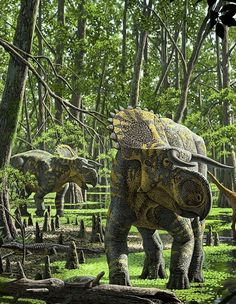 Nasutoceratops lebte vor circa 76 Millionen Jahren und ist ein typischer...