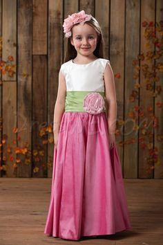 Charming A-line Ankle-length Bateau Sash Flower Girl Dress,78.99,
