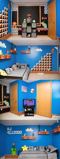 Cool bedroom for a #Mario fan