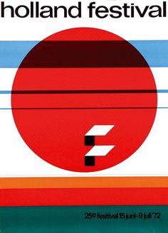 Dick Effers, poster Holland festival, 1972