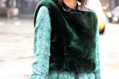 Blogger Krystal Bick wearing Jennifer Chun during Fashion Week. February 2013.
