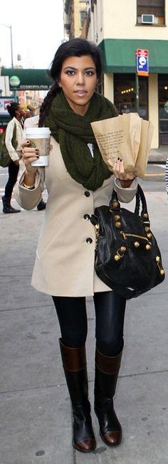 perfect fall style :: Kourtney Kardashian style