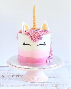 Diy Unicorn Birthday Cake, Easy Unicorn Cake, Girly Birthday Cakes, Beautiful Birthday Cakes, 4th Birthday, No Bake Cake, Cupcake Cakes, Cake Mold, Kitchens