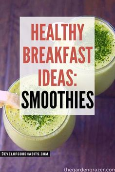 HEALTHY BREAKFAST IDEAS: Smoothies | quick and easy breakfast smoothie recipes   See more about these healthy recipes: Banana Breakfast Smoothie Apple | Ginger Spice Green Smoothie |  Strawberry Orange Sunrise Smoothie | Carrot Cake Smoothie | Blueberry Muffin Smoothie | Mango Lime Smoothie | Power Smoothie (Blueberry, Banana, Oat) | Creamy Watermelon Honey Smoothie | 4-Ingredient Mango Green Smoothie | Coconut, Vanilla, and Matcha Smoothie | Spinach, Banana Protein Smoothie Banana Protein Smoothie, Carrot Cake Smoothie, Matcha Smoothie, Power Smoothie, Healthy Smoothies, Breakfast Smoothie Recipes, Banana Breakfast, Breakfast Ideas, Runners Food