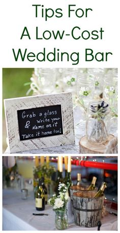 Tips For How To Create A Low-Cost Wedding Bar! Very helpful if your family likes alcohol as much as mine. frugal wedding Ideas #frugal #wedding