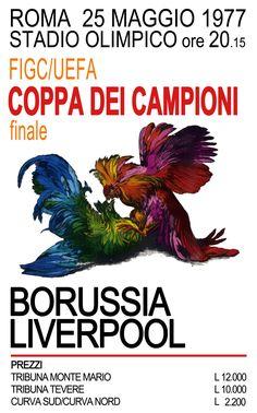 liverpool crest history: Liverpool F.C - Rome 1977 Promo Poster