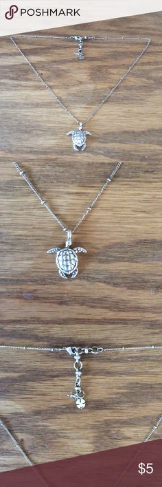 """NWOT Lucky Brand Sea Turtle Necklace This necklace is absolutely charming. Never worn, but the tag disappeared from my jewelry box somewhere along the way. Silver-tone, with 17"""" + 2"""" chain. Ships fast! Lucky Brand Jewelry Necklaces"""