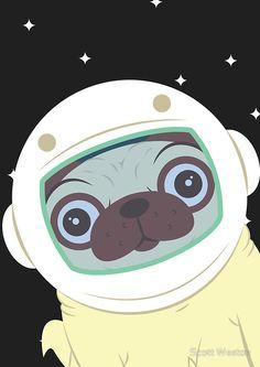 Pug in Space by Scott Weston