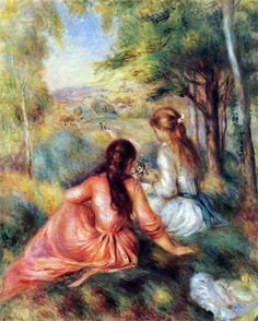 Pierre Auguste Renoir - In the Meadow (Picking Flowers) 1890