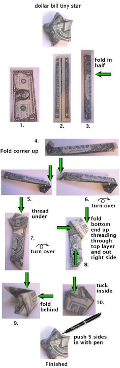 How to fold a dollar bill star. Thanks, @Amy Lyons Lyons Felix Flores!