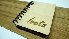 This listing is for wooden Notebook.  - Dimensions: 115mm X 80mm - Thickness material: 3mm - Material: wood  - Write in the note to seller: the name what you would like on it or your favorite quote.
