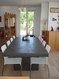 Table en mortex Tables, Dining Table, Room, Furniture, Home Decor, Surfboard Wax, Home Ideas, Mesas, Bedroom