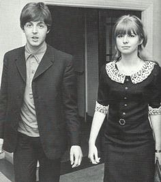 Jane Asher and Paul McCartney