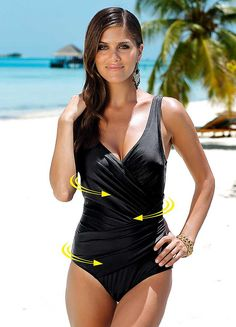 Wrap Effect Control Swimwear - Wrap swimsuit with control lining 936dc1e3d