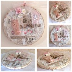 Shabby chic embroidery hoop art  crafty kat designs