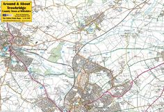 Trowbridge, County Town of Wiltshire - front of map