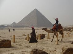 Pyramids are not pyramids without a camel ride