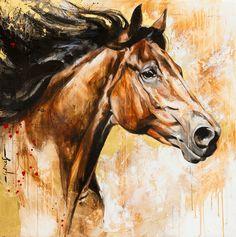 Toiles passées - past paintings — Elise Genest Horse Pictures, Art Pictures, Horse Drawings, Art Drawings, Horse Anatomy, Horse Illustration, Horse Artwork, Horse Face, Painted Pony