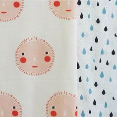 Happy weekend, rain or shine! x http://donnawilson.com/72-fabric-by-the-meter