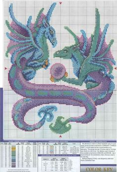 Billedresultat for cross stitch dragons Needlepoint Patterns, Counted Cross Stitch Patterns, Cross Stitch Charts, Cross Stitch Designs, Cross Stitch Embroidery, Embroidery Patterns, Dragon Cross Stitch, Fantasy Cross Stitch, Cross Stitch Fairy