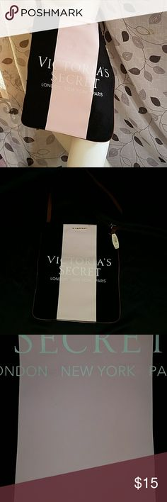 New! Victoria's secret cross body bag Nee with tag Adjustable strap Very minor tiny scuffs on pink stripe,  hard to capture it in picture that's how tiny but i like to describe all flaws in my items Approx 15 in x 12 in  Please feel free to ask questions  Don't forget to follow me as i add stuff weekly Happy shopping Bundle and save but please dont offer half the asking price Victoria's Secret Bags Crossbody Bags