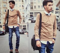 We've already told you of cool winter outfits you may choose for working, and how about your guy? Does your boyfriend or husband look stylish at work? Layering Outfits, Winter Outfits For Work, Look Casual, Men Casual, Boyfriend Jeans, Boy Outfits, Casual Outfits, Woman Outfits, Cool Winter