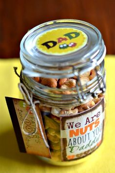 We're Nuts About Dad this Fathers Day - Fun DIY Fathers Day Gift Tutorial and more Fathers Day Ideas and FREE Printables for Him