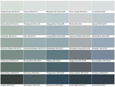 Green Paint Colors, Exterior Paint Colors, Exterior House Colors, Paint Colors For Home, Wall Colors, Color Paints, Paint Color Chart, Paint Charts, Color Charts