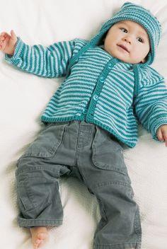 Det søde hue/trøjesæt er perfekt til familiens mindste i løbet af foråret og den tidlige sommer. Kids Knitting Patterns, Knitting For Kids, Knitting Projects, Baby Barn, Sweater Set, Baby Cardigan, Baby Wearing, Crochet Baby, Knitwear