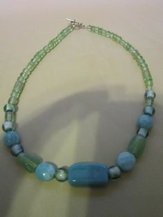 Green Glass Bead Necklace by BeadazzlingButterfly on Etsy, $19.00