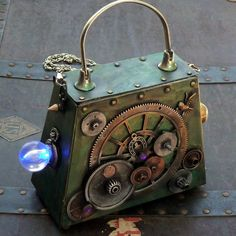 Steampunk Owl Pocket watch pendant   Victorian  Clutch Purse Gothic Pirate Victorian  BOX pocket watch parts via Etsy