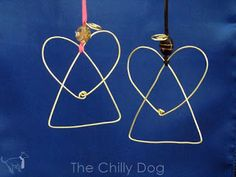 Wire angel Christmas ornaments are easy to make and add some sparkle to your holidays