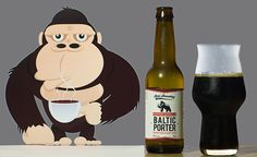 """Coffee Gorilla Baltic Porter (Sori Brewing - Estonie) -  via """"Saveur-Biere.com"""" -  """"A yawn is a silent scream for more coffee. You face Coffee Gorilla every morning in the mirror before your first cup. Now it's possible to drink beer and coffee at the same time. This must be the future?"""""""