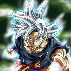 Goku perfect ultra instinct F Dragon Ball Gt, Manga Anime, Anime Art, Goku Blue, Super Goku, Dbz Drawings, Super Anime, Fanart, Cartoon