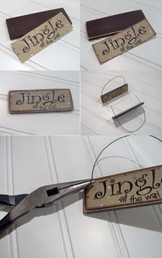 homemade signs using free paint stirrer sticks.  full tutorial