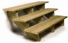 Escalier extérieur : construire un escalier en bois | guide construction Terrasse Bois
