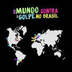 Manifestações pelo mundo condenam a tentativa de golpe no Brasil - Frente Brasil Popular