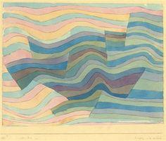 Paul Klee, Bewegung an der Steilküste on ArtStack #paul-klee #art